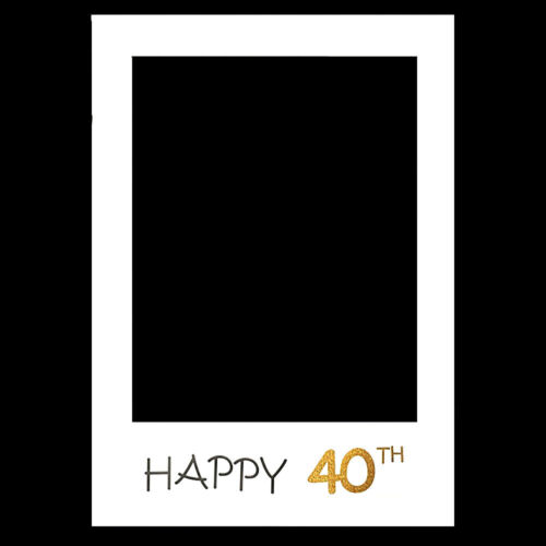 18//30//40//50//60th Happy Birthday Party Paper Frame Anniversary Photo Booth Props