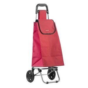 3d6b676862f Image is loading Foldable-Wheeled-Lightweight-Shopping-Grocery-Market-Red- Trolley-