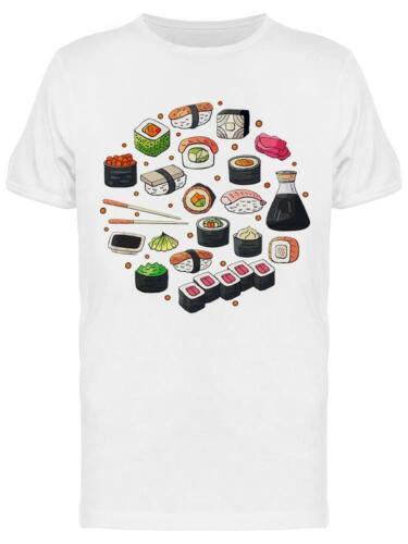 Set Of Japan Sushi Tee Men/'s Image by Shutterstock Men/'s T-shirt