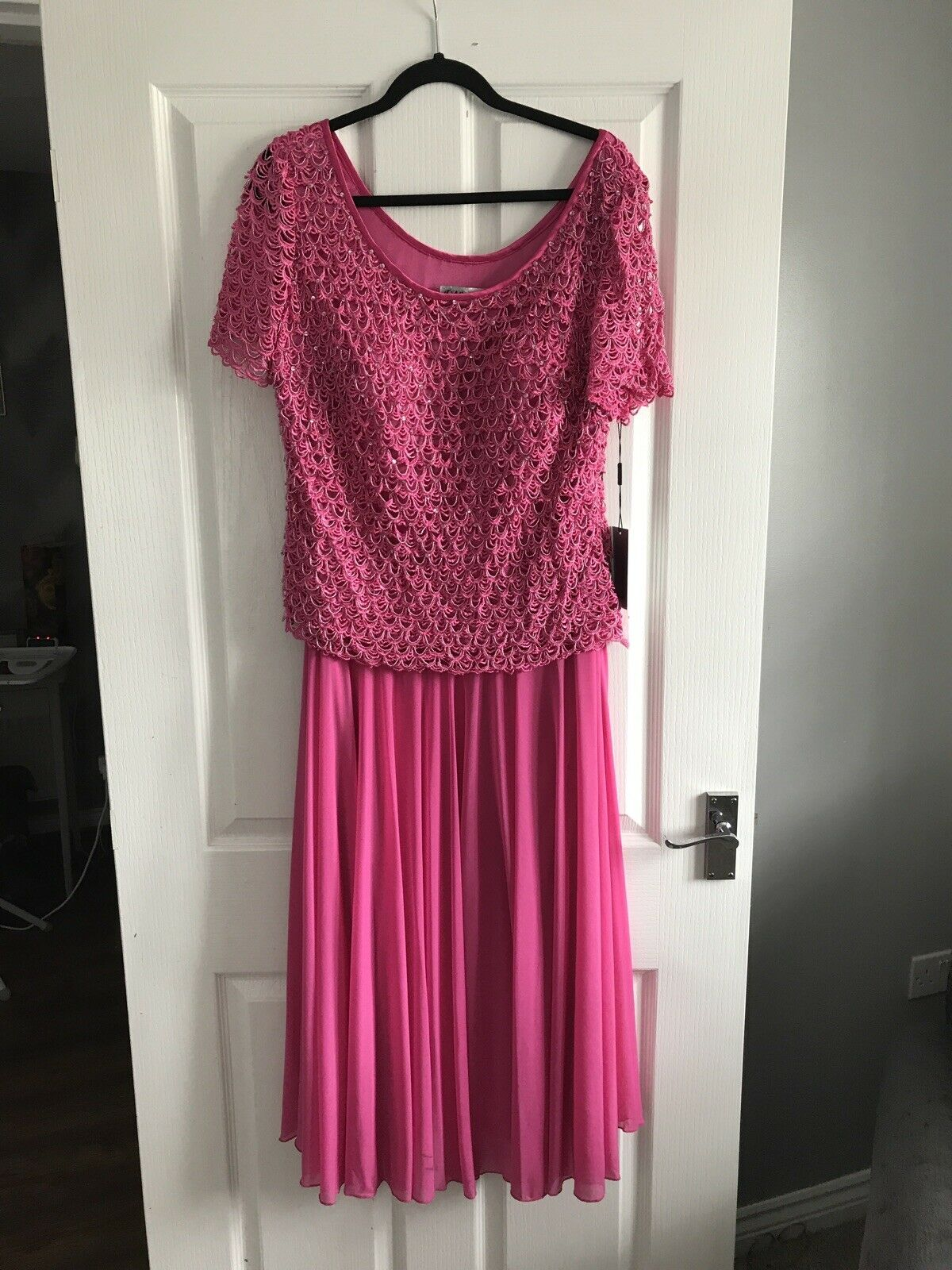 Official Pink 2 Piece Style Dress Size 18 Wedding Cocktail Mother Of Bride