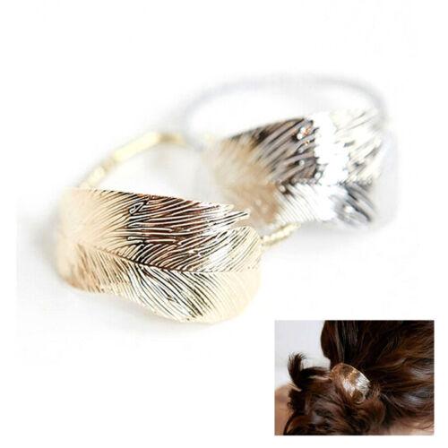 Frauen Blatt Haargummis Band Seil Stirnband Elastische Pferdeschwanz Inhaber—HQ