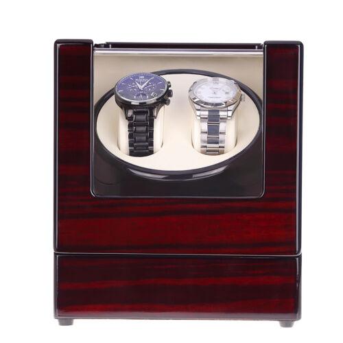 Uhrenbeweger Uhrenbox Uhrenkasten Automatikuhren Watchwinder Beweger für 2 Uhren
