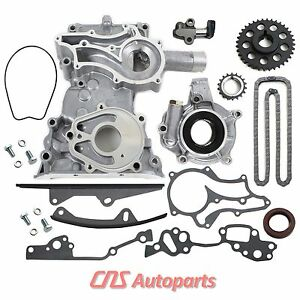 FITS-85-TOYOTA-2-4L-22RE-TIMING-COVER-CHAIN-OIL-PUMP-KIT-2-HD-STEEL-GUIDES-22R