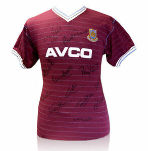 PROOF-1986-WEST-HAM-TEAM-MULTI-SIGNED-AVCO-SHIRT-BY-12-WITH-TAGS-COA-AUTOGRAPHS