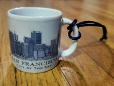 Starbucks San Francisco Been There Christmas Ornament Glass Mini Tumbler