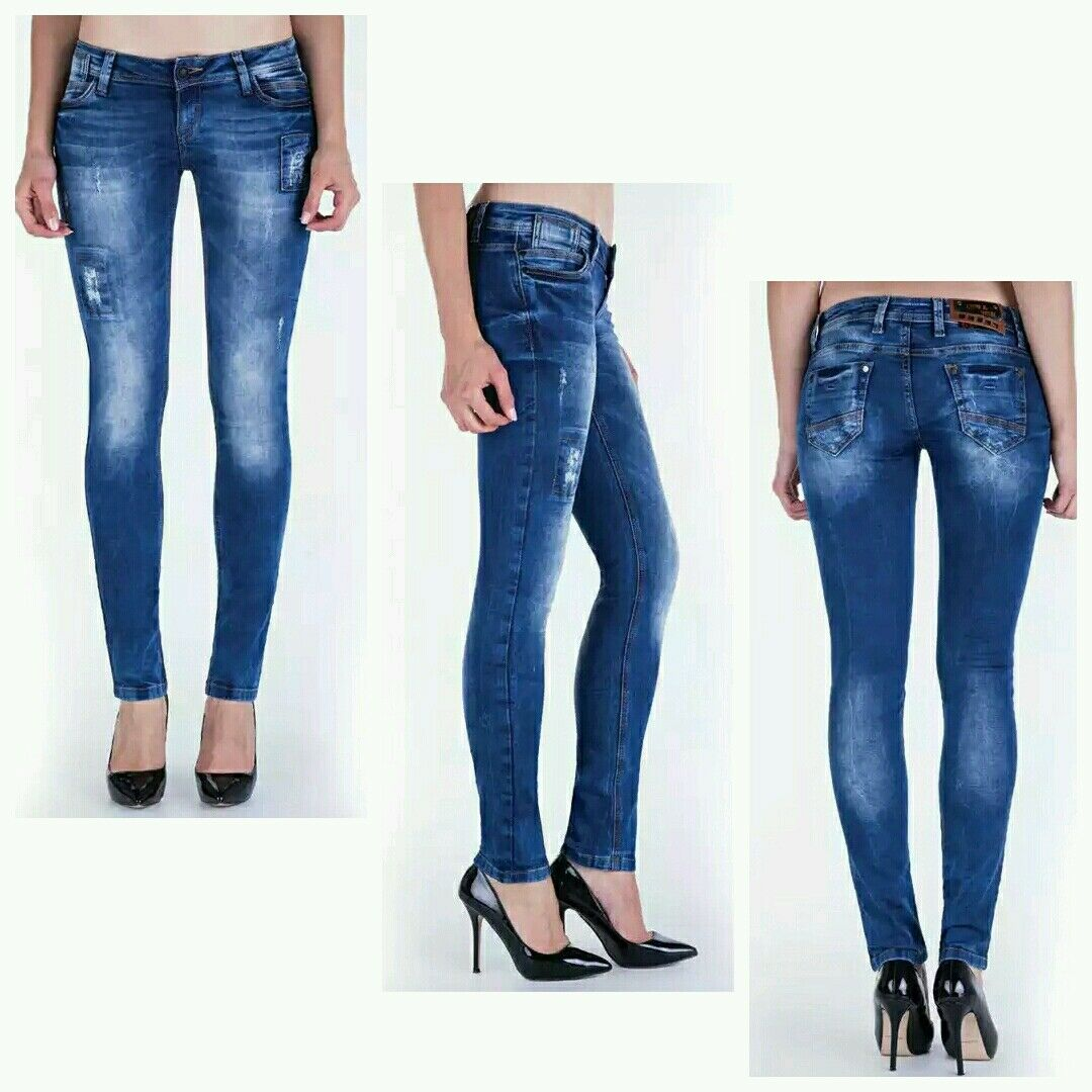 Cipo Baxx CBW672 Skinny Jeans Skin Tight Female