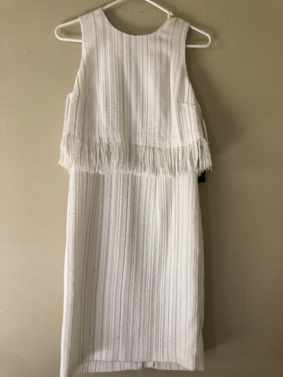 Karl Lagerfeld NEW White Ivory Women's Size 2 Knit Sheath Dress  152 278