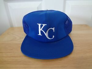 0f776a00e488c Vintage Kansas City Royals Snapback Mesh Trucker Hat 90s UII Size M ...