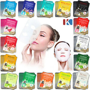 40pcs-Korean-Essence-Facial-Mask-Sheet-Moisture-Face-Mask-Pack-Skin-Care-set