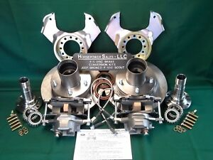 Ford-F100-front-Drum-to-DISC-BRAKE-CONVERSION-KIT-dana-44-w-Open-Knuckles-only