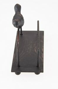 Metal shop business card holder rustic vintage design desk stand image is loading metal shop business card holder rustic vintage design colourmoves