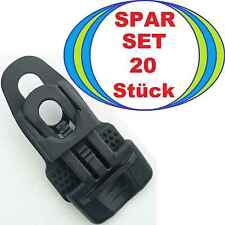 20 HOLDON MIDI CLIP Planenspanner schwarz, 7 x 4 x 2 cm Spann-Klammer-Fixe Clips