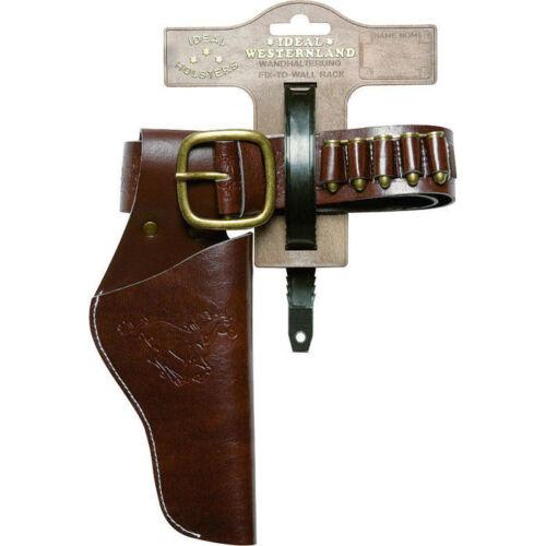 Cowboygürtel für Kinder mit Holster für Spielzeugpistole, braun