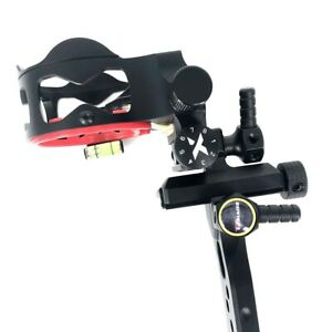 "Outdoor Sports Sporting Goods Practical 1xcnc Aluminum Micro Adjustable Bow Sight 5 Pin .019"" Long Pole For Compound Bow Ture 100% Guarantee"