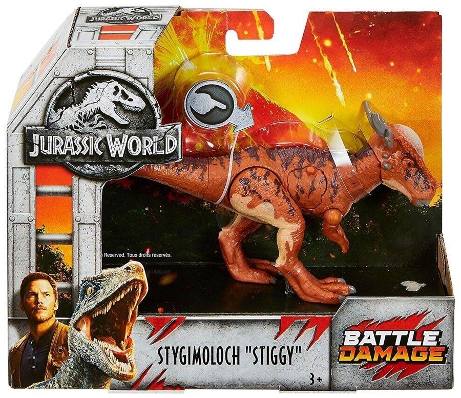 Jurassic World 2 BATTLE DAMAGE STYGIMOLOCH FIGURE DINOSAUR 2018 FNB32 STIGGY