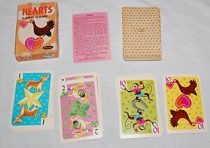 Vtg-Whitman-Hearts-Playing-Card-Game-60s-Hearts-Clover-Horseshoe-Star-Cards-Jinx