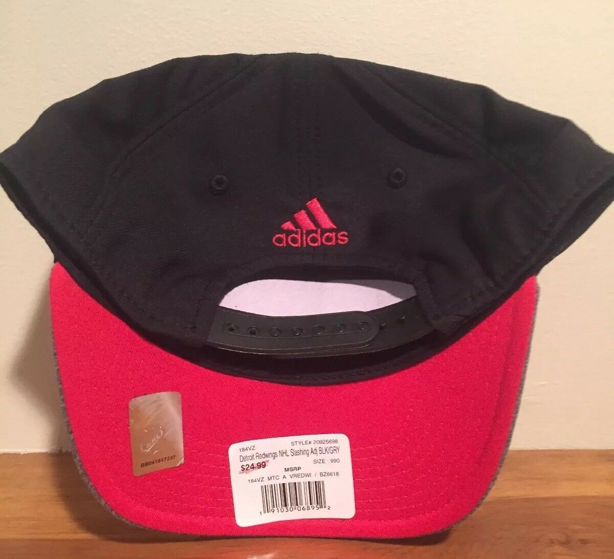 cheap for discount f73ca 14b7c ... good promo code for detroit red wings nhl adidas slashing snapback hat  cap ebay 2fb59 0bc0e