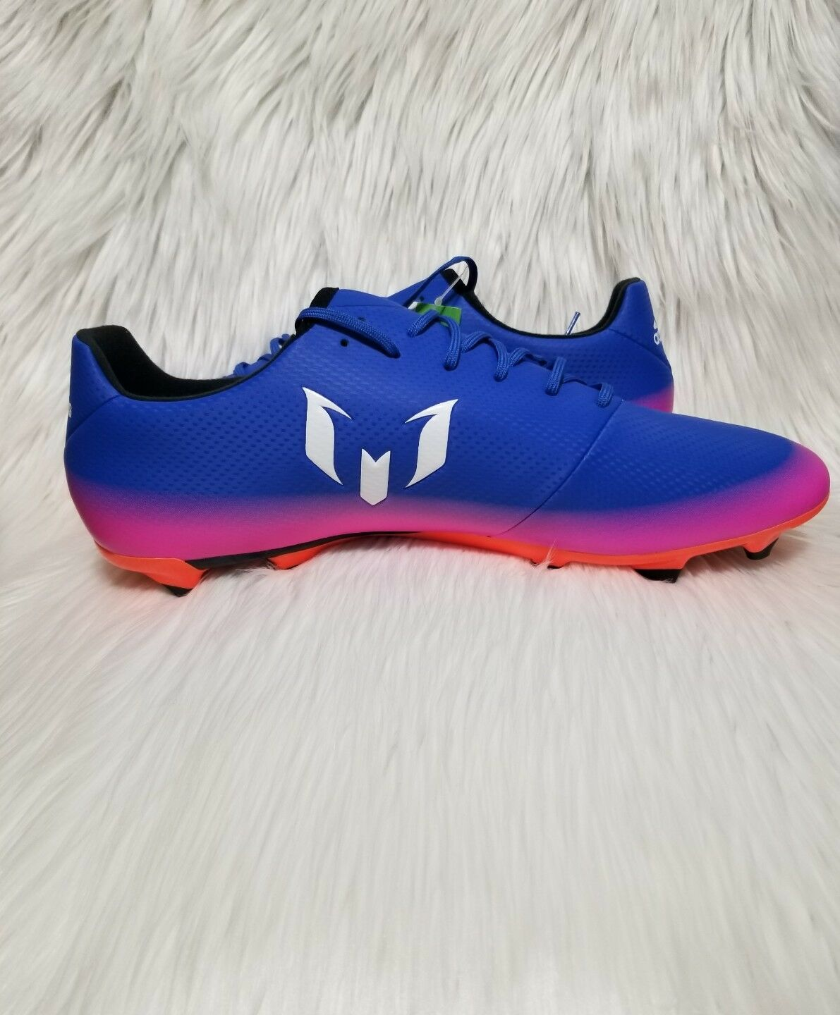 Adidas Messi 16.3 FG Soccer Cleats Mens Sz 12 bluee Pink orange White BA9021