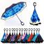 Jooayou Doble Capa Paraguas invertido forma de mango Paraguas Plegable Inversa C,