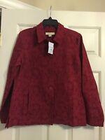 Ladies Appleseed's Size 10 Jacket,red(burgundy), Nice