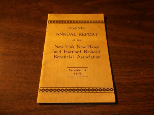 1905 NEW HAVEN RAILROAD BENEFICIAL ASSOCIATION ANNUAL REPORT
