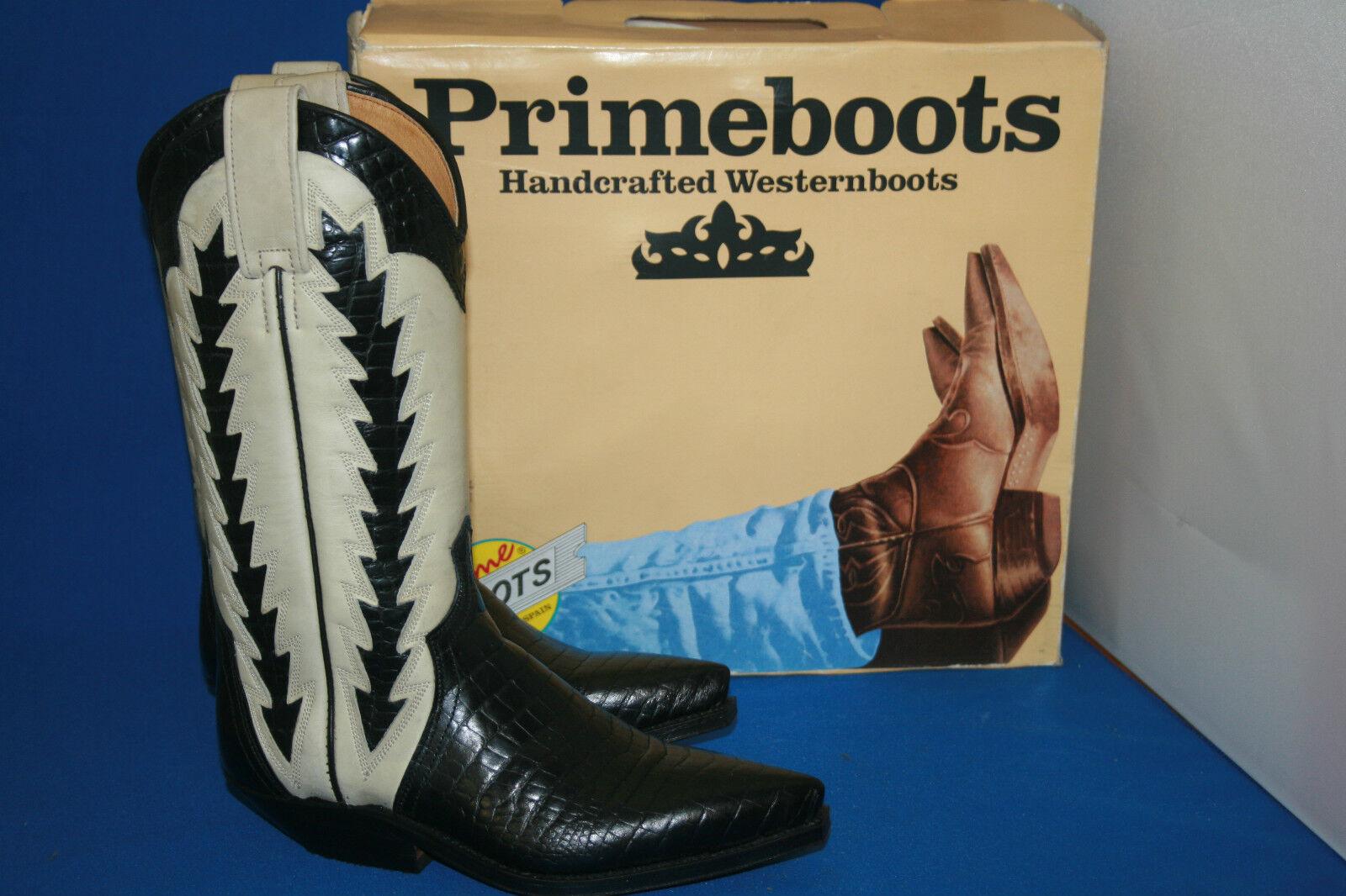 Prime Boots Cowboystiefel westernstiefel  stiefel neu  gr. 39  schwarz weiß