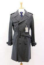 NWT Tom Ford Men's Silk-Linen-Wool Dotted Print Belted Trench Coat Size 48/38 US