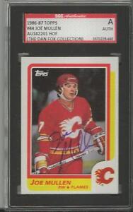 Joe-Mullen-1986-Topps-Autograph-44-SGC-Flames