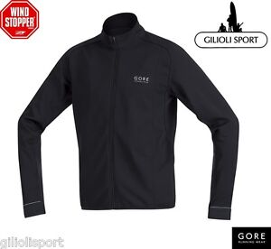 GORE-ZOOM-SO-WINDSTOPPER-SOFT-SHELL-Shirt-Maglia-Running-Uomo-SWZOOM