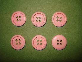 4 trous rose CT4C03b 18 mm 6 boutons plastiques