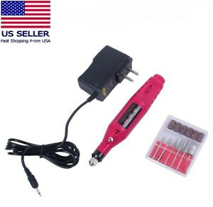 Electric-Drill-Nail-File-Acrylic-Art-File-Manicure-Pedicure-Portable-Machine-Kit