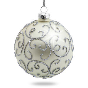 Glass Balls Christbaumkugeln.Details About Sikora Set Of 4 Christmas Tree Hanging Decor Glass Baubles Highlight Silver