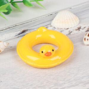 1-6-1-12Puppenhaus-Miniatur-Schwimmring-fuer-gelbe-Enten-dekoriert-fuer-Puppenhaus