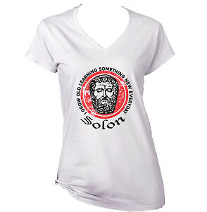 SOLON-I-GROW-OLD-LEARNING-NEW-WHITE-COTTON-LADY-TSHIRT