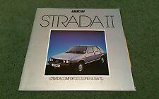 June 1983 FIAT STRADA II UK BROCHURE Comfort Super ES 105 TC