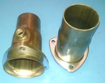 """3.00/"""" TO 2.50/"""" 409 STAINLESS 3 BOLT HEADER SOCKET W//02 BUNG COLLECTOR REDUCER"""