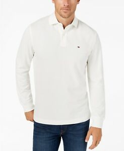 4cd684bc Details about Tommy Hilfiger Men's Snow White Classic Fit Long Sleeve Polo  Shirt