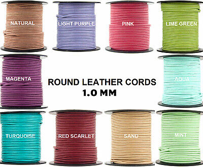 11 yards Xsotica® Magenta Round Leather Cord 2mm 10 meters