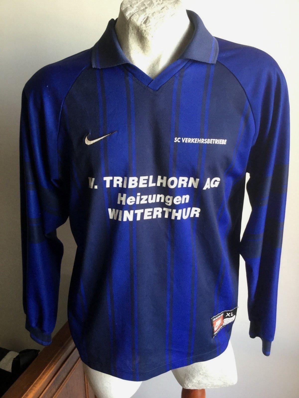Maglia calcio nike sc verkehrsbetriebe bern swiss football shirt jersey size XL