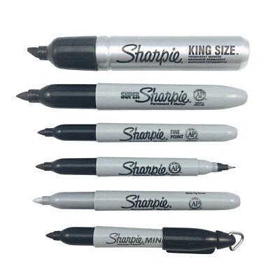 Mini SHARPIES Black Permanent Markers Colour Set Fine Tip Black Sharpie Vat Reg