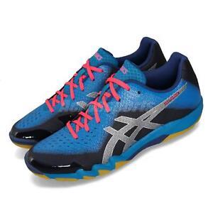 Asics-Gel-Blade-6-Bleu-Marine-Rose-Hommes-Badminton-Volleyball-Shoe-Sneaker-R703N-402
