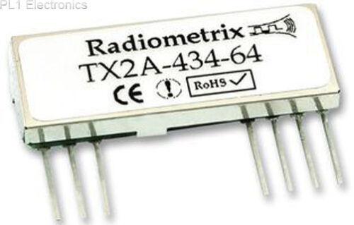 RADIOMETRIX   TX2A-434-64   RF MOD 434.42MHZ 64KBPS FM TX