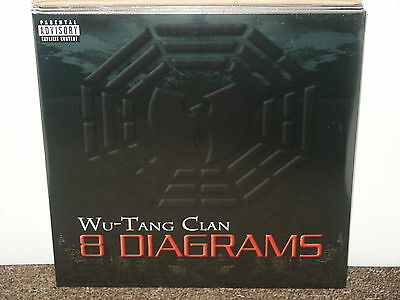 WU TANG CLAN / 8 DIAGRAMS DBL LP OG EU 2008 HIP HOP VINYL SEALED RZA RAEKWON GZA