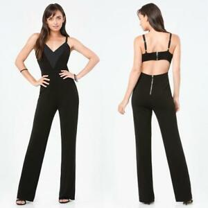 BEBE-BLACK-DEEP-V-BACK-CUTOUT-ROMPER-JUMPSUIT-NEW-NWT-169-MEDIUM-M-LARGE-L-10