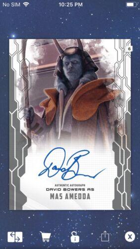 Topps Star Wars Digital Card Trader Masterwork Signature Mas Amedda Insert