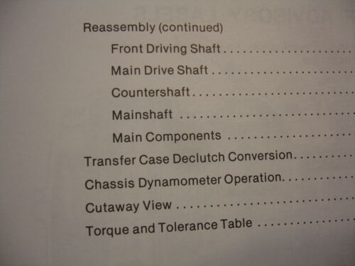 Mack Trucks TC 15 /& 25 Transfer Case  2-Speed AWD Shop Service Repair Manual OEM