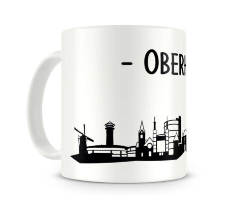 Samunshi Oberhausen Skyline Tasse Kaffeetasse Teetasse  2 Farben H:95mm D:82mm