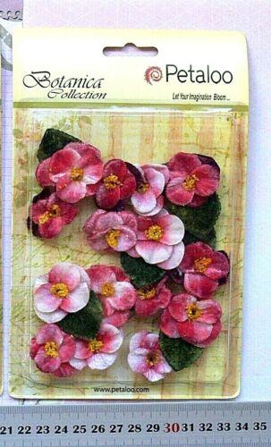 3 Mixed Style Choice Petaloo V1 VELVET FABRIC Flower Packs RED