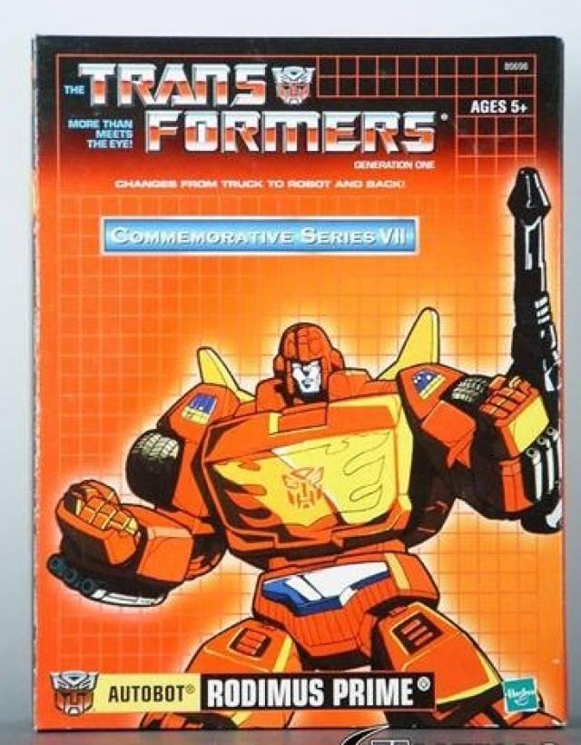 Hasbro g1 transformers prime gedenk - serie vii rodimus neuauflage des neuen