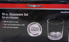 Snap On Tools 100th Anniversary 10 Oz Glassware Set Of 4 Ssx20p144 Limited